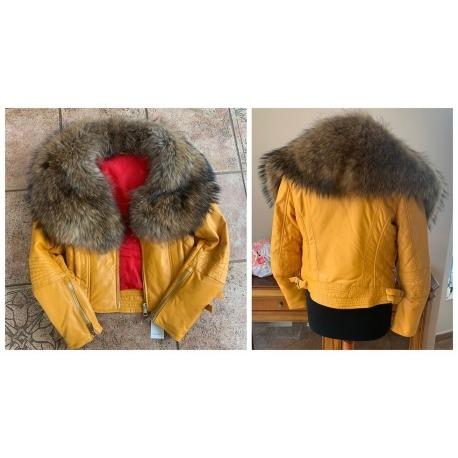 Dámská kožená bunda - mýval