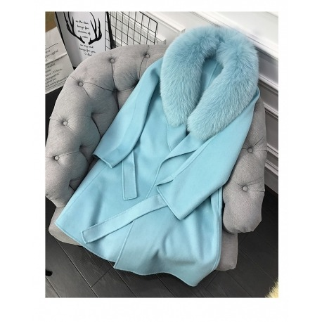 Kašmírový kabát Jade s liškou