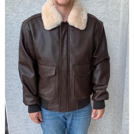Zimní kožená bunda - bomber