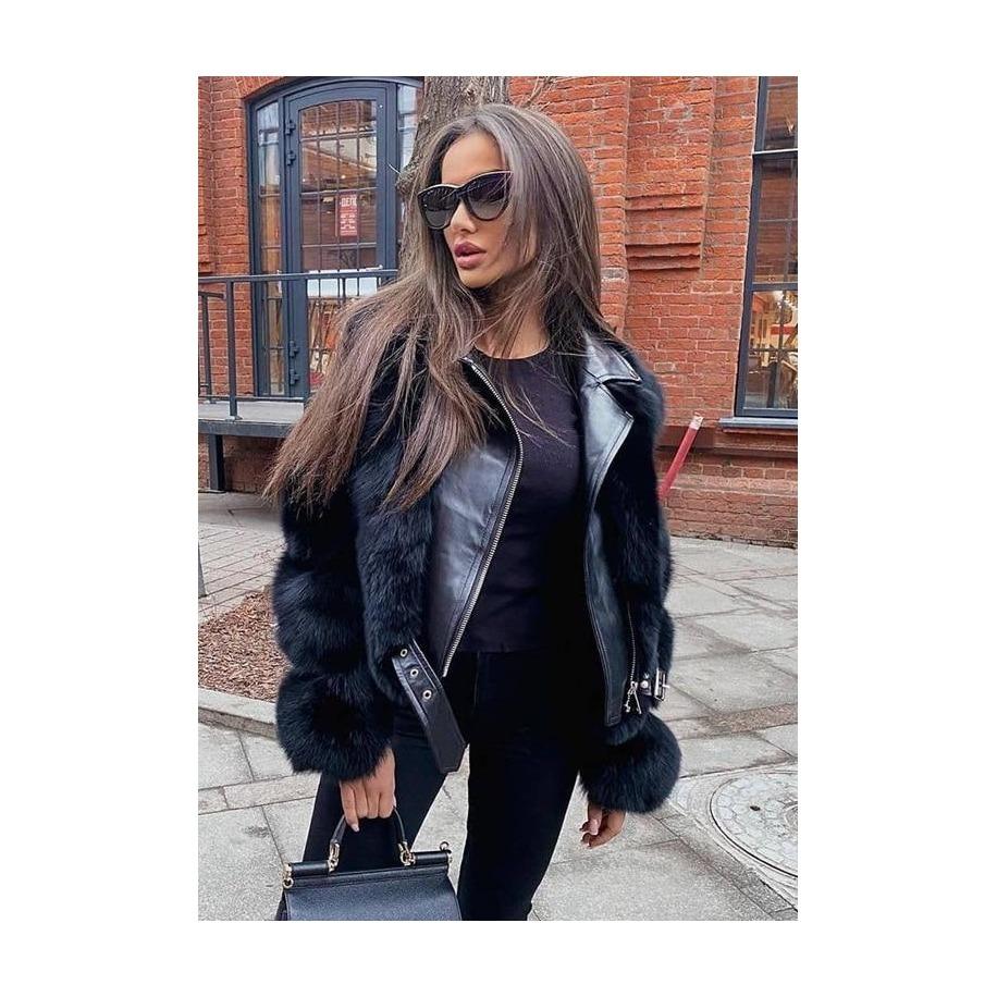 Kožená bunda Sarah - liška