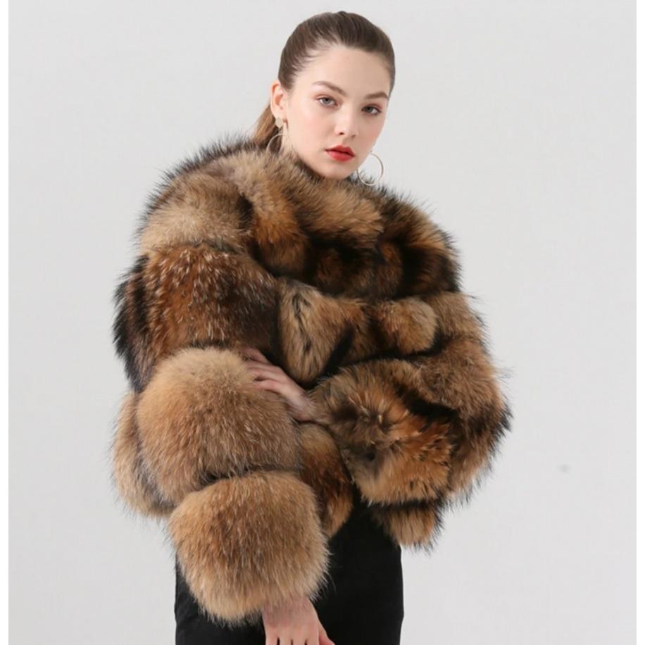Kožešinový kabát Sandra -...