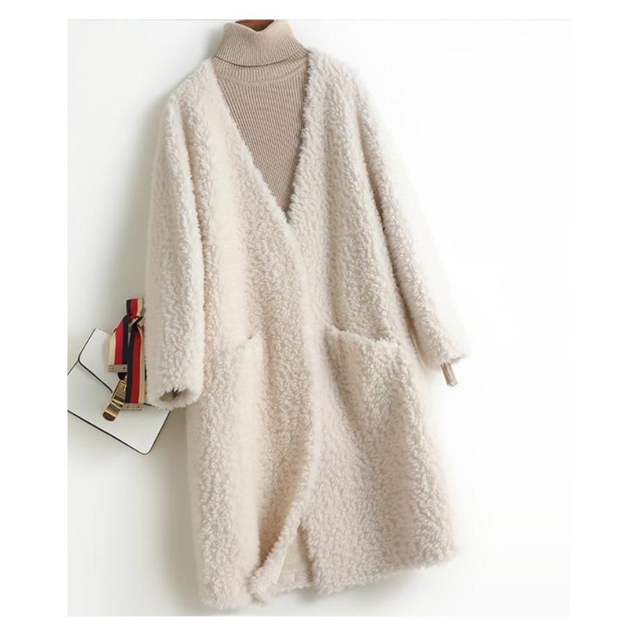 Dámský kabát Kendra - ovčí...