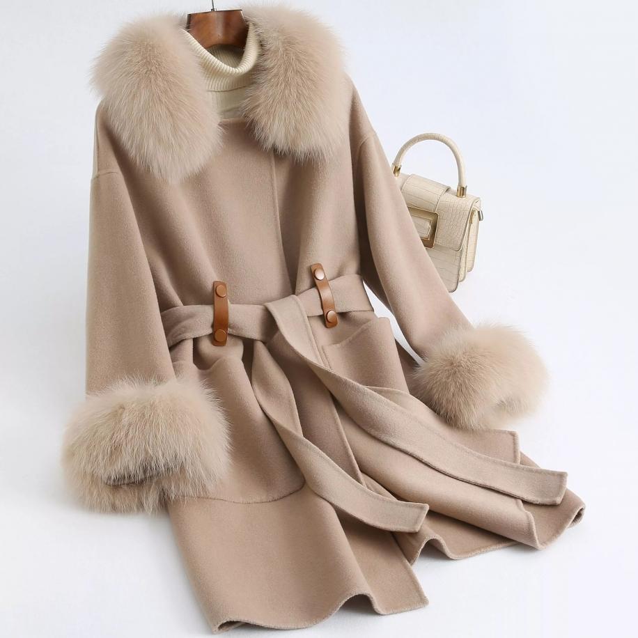 Dámský kabát Nicolle - liška