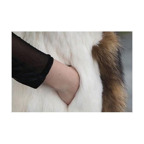 Kožešinová vesta Carrie - liška & králík